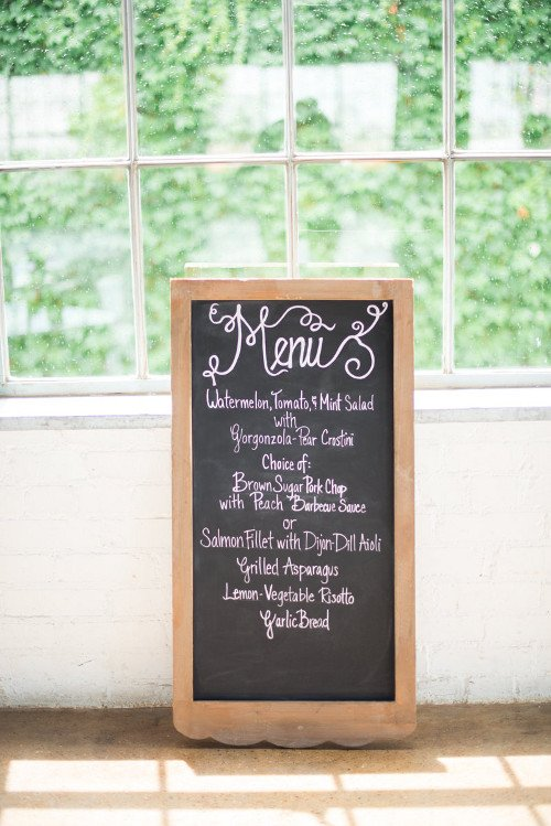Let Love Sparkle Wedding Menu Chalkboard