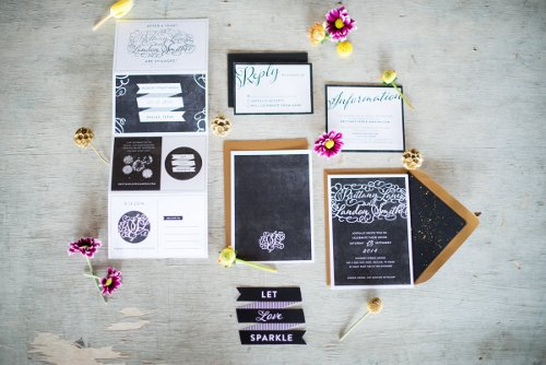 Let Love Sparkle Wedding Invitation Suite