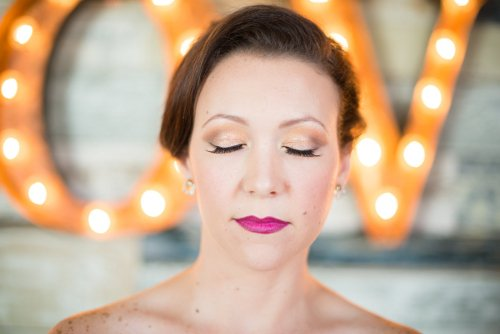 Let Love Sparkle Gold Wedding Makeup