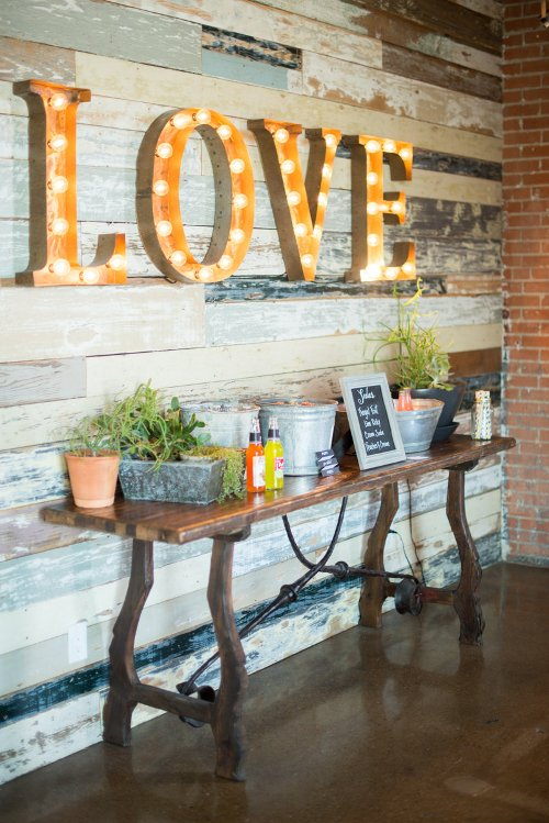 Let Love Sparkle Wedding Soda Table