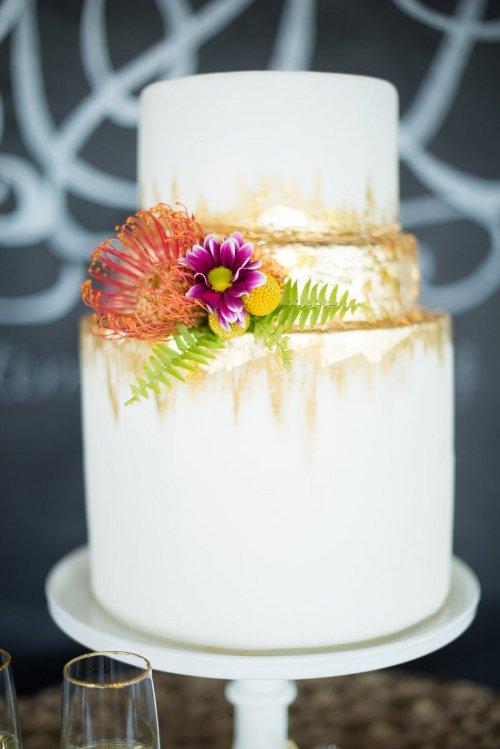 Let Love Sparkle Wedding Cake