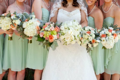 katie cassidy photography,bridal party,floral,mint green