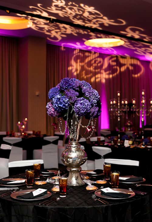 Patterned lighting Dallas wedding