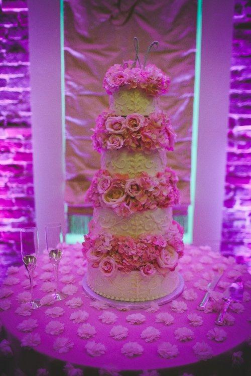 Specialty linen cake table wedding