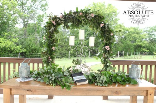 Ceremony altar table Heritage Springs