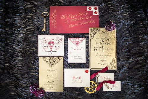 Steampunk Invitation Suite Flashbox Photography