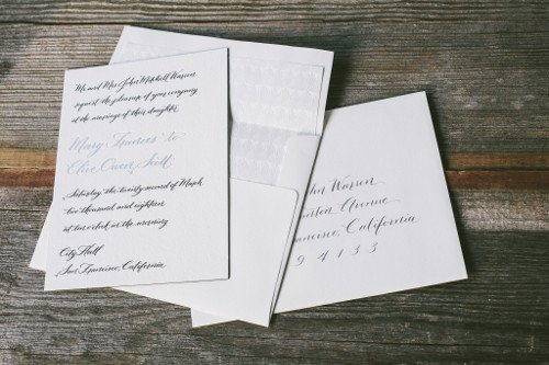 Wedding calligraphy The Left-Handed Calligrapher