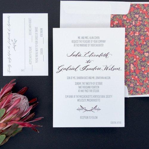Wedding calligraphy The Left-Handed Calligrapher