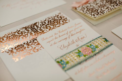 Foil invitation 5 by 7 Designs