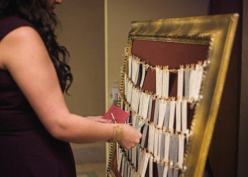 Wedding Escort Cards Gold Frame - Wedding Day help