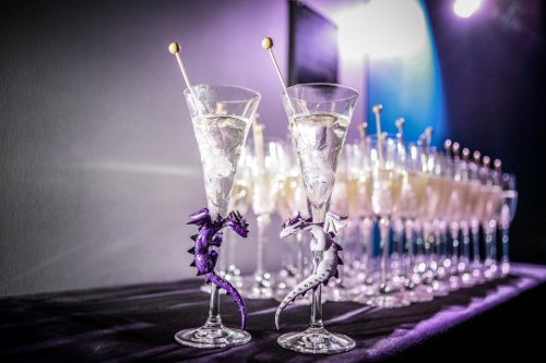 Toasting flutes wedding Flashbox Photography
