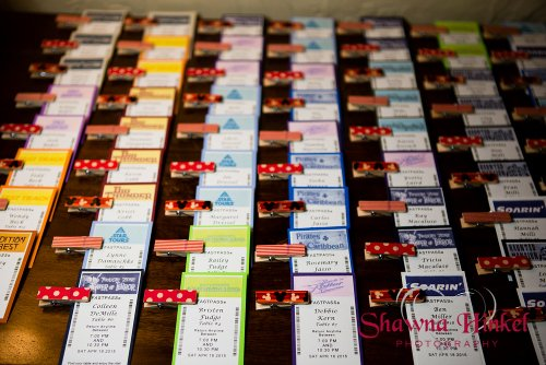 Disney escort cards Shawna Hinkel Photography