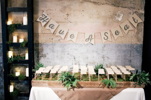 Haute Floral escort cards Feather and Twine Photography