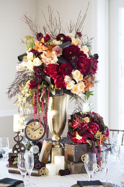 Haute Floral centerpiece Flashbox Photography