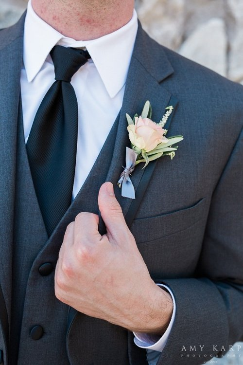 we + you boutonniere Amy Karp Photography