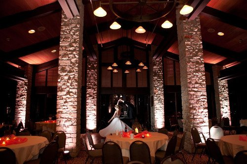 Uptown Sound uplighting Stonebridge Ranch Country Club