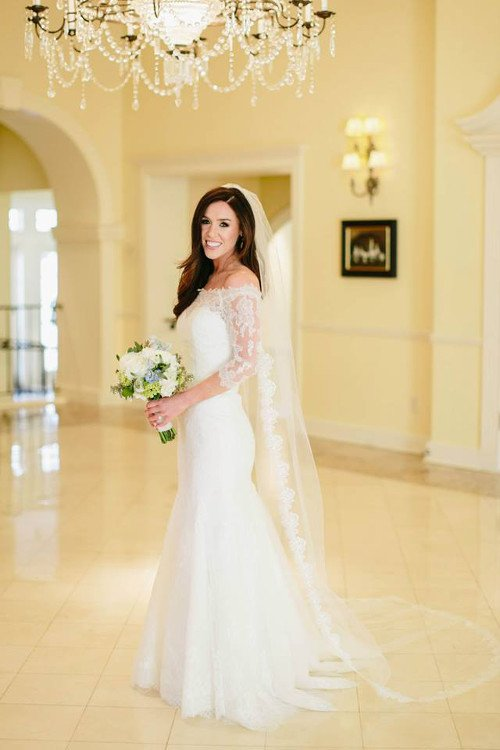 Lulus Bridal lace dress