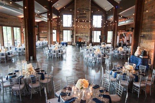 Stone Crest Venue - Navy & silver reception