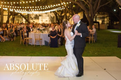 Bride and groom - First dance outdoor reception