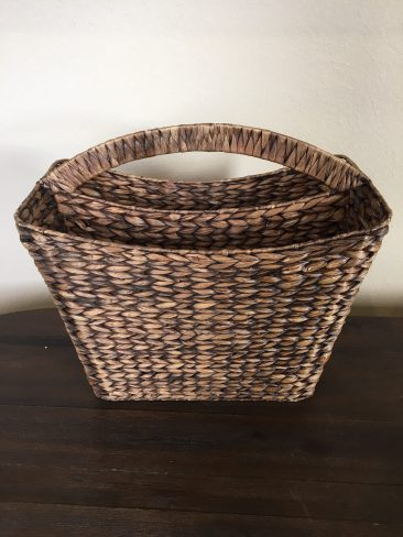 Dark Brown Tall Rectangle Basket (Tier One)