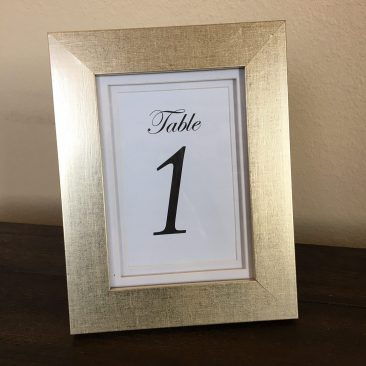 "Champagne 5x7"" Frame Table Numbers (30) (Tier One)"