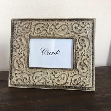 "Ivory Rustic ""Card"" Frame (4x6"") (Tier One)"