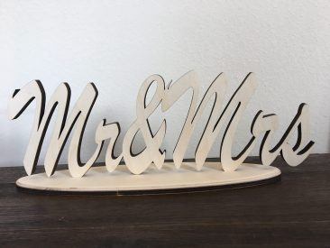 """""""Mr. & Mrs."""" Sign (Tier One)"""