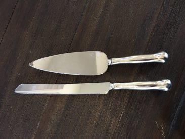 Silver Cake Knife & Server Set (Tier One)