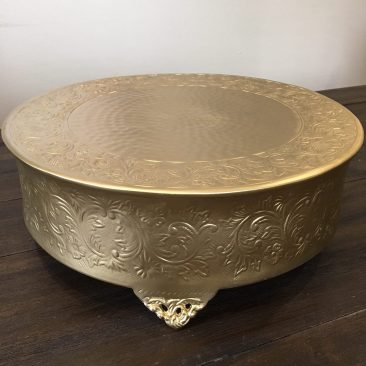 "Gold Round Cake Stand 18"" (Tier One)"
