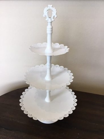 "White 3 Tiered Cupcake Stand (22.5"") (Tier One)"