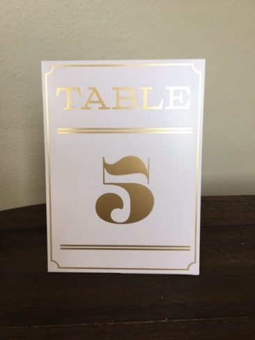 Blush & Gold Tent Table Numbers (Tier One)