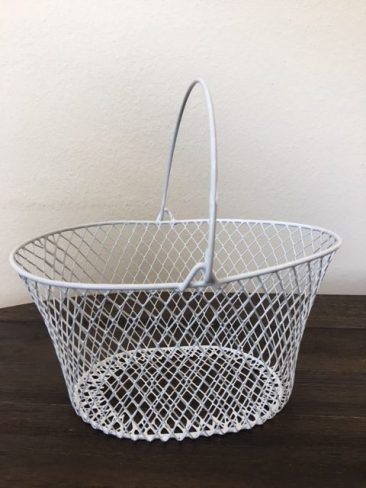 White Small Wire Basket (Tier One)