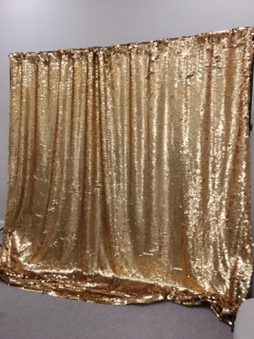 Gold Sequin Backdrop with Frame (Tier Two)
