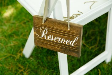 Wood Reserved Signs (Set of 4) (Tier One)