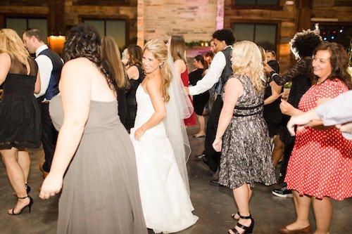 Wedding reception dancing bride