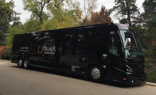 Premier Transportation Shuttle Bus Wedding Transportation