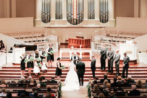 Church Wedding Ceremony - Black and white ceremony