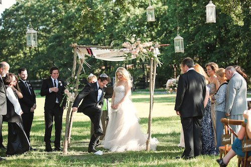 Jewish Wedding - chuppah - Outdoor ceremony
