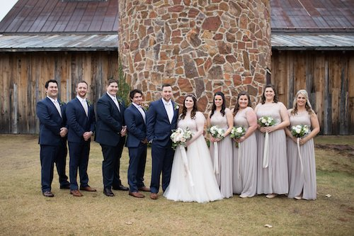 Bridal Party Taupe, ivory, and navy