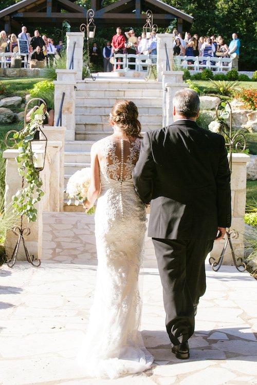 The Springs Denton - Walking down the aisle - Wedding Ceremony