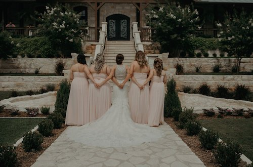 The Springs McKinney - light pink bridesmaid dresses - wedding venue