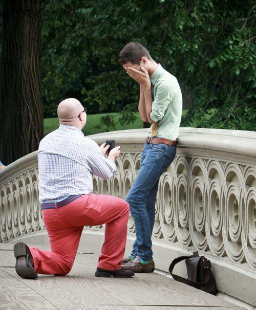 Same sex proposal - central park proposal - Paparazzi photography
