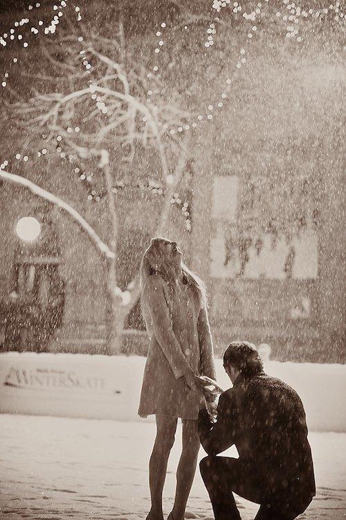 Snowfall Proposal - Blizzard Proposal - Chris Emeott Photography