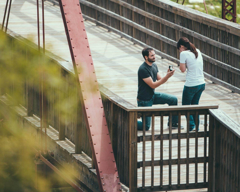 Proposal Photos - Bridge Proposal - Simple Engagemnent - McKinney, Texas