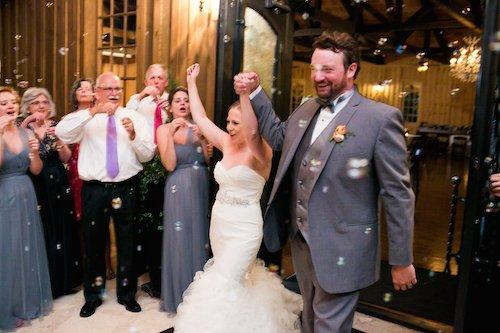 Allison Davis Photography - Wedding Exit - Bubble Exit Bride & Groom