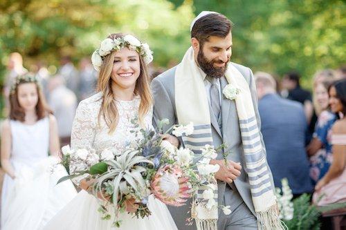Lauren Peele Photography - Bride and Groom - Bohemian Wedding - Flower Crown