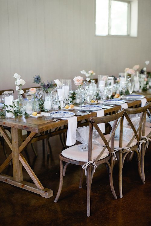 Lauren Peele Photography - Wedding Table - Tablescape from wedding - Pink Centerpieces