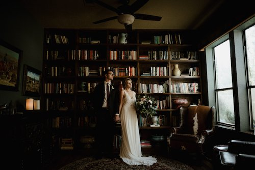 Stephanie Rogers Photography - Library Bride & Groom - Bridal Portrait