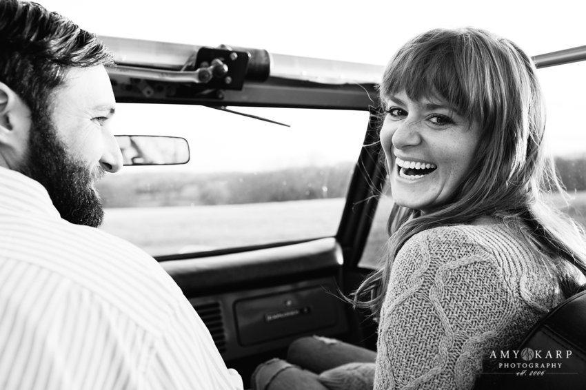Black and White Engagment Photo - Amy Karp Photography - Simple Engagement Photo - Engagement Photo Ideas