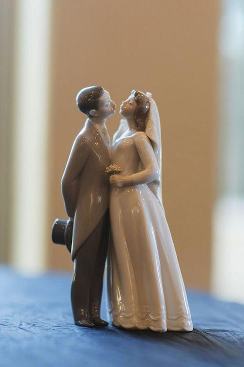 Wedding Cake Topper - Bride & Groom cake topper - couple figures